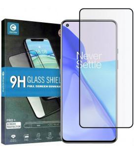 """Juodas apsauginis grūdintas stiklas Oneplus 9 telefonui """"Mocolo TG Full Glue"""""""