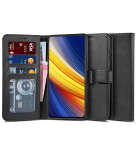 """Juodas atverčiamas dėklas Xiaomi Poco X3 Pro / X3 NFC telefonui """"Tech-protect Wallet 2"""""""