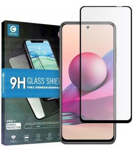 """Juodas apsauginis grūdintas stiklas Xiaomi Redmi Note 10/10S telefonui """"Mocolo TG Full Glue"""""""
