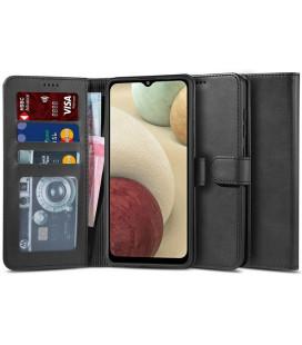 """Juodas atverčiamas dėklas Samsung Galaxy M12 telefonui """"Tech-protect Wallet 2"""""""