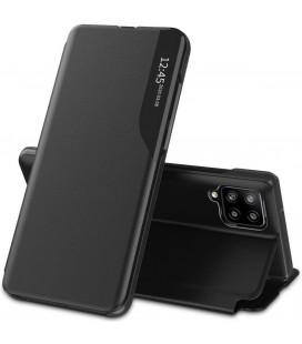 """Juodas atverčiamas dėklas Samsung Galaxy M12 telefonui """"Tech-protect Smart View"""""""