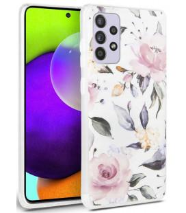 "Baltas dėklas Samsung Galaxy A52 LTE/5G telefonui ""Tech-protect Floral"""
