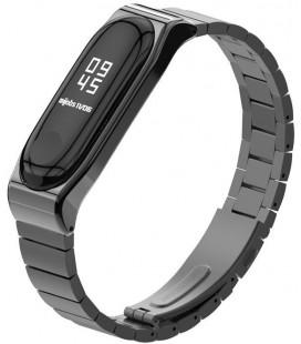 """Juoda apyrankė Xiaomi Mi Smart Band 5/6 laikrodžiui """"Tech-Protect Steelband"""""""