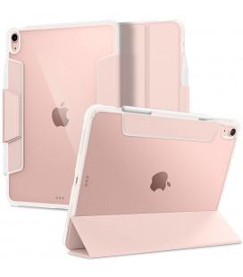 """Rausvai auksinės spalvos atverčiamas dėklas Apple iPad Air 4 2020 planšetei """"Spigen Ultra Hybrid Pro"""""""