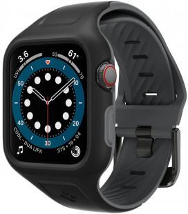 """Juodas dėklas Apple Watch 4/5/6/SE (44mm) laikrodžiui """"Spigen Liquid Air Pro"""""""