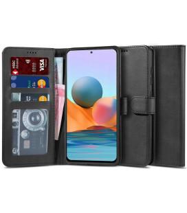 """Juodas atverčiamas dėklas Xiaomi Redmi Note 10 Pro telefonui """"Tech-protect Wallet 2"""""""