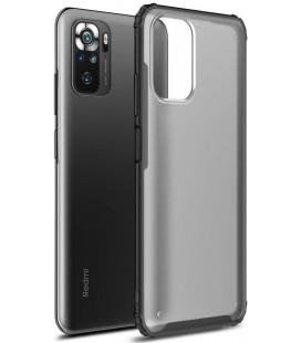 """Juodas dėklas Xiaomi Redmi Note 10/10S telefonui """"Tech-Protect Hybridshell"""""""