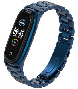 """Mėlyna apyrankė Xiaomi Mi Smart Band 5/6 laikrodžiui """"Tech-Protect Stainless"""""""