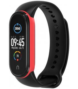 """Juoda/raudona apyrankė Xiaomi Mi Smart Band 5/6 laikrodžiui """"Tech-Protect Iconband"""""""