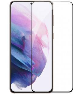 """Juodas apsauginis grūdintas stiklas Samsung Galaxy S21 telefonui """"Nillkin Amazing 2.5D CP+ Pro"""""""