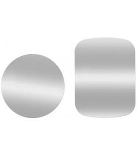 Sidabrinės spalvos metalinių plokštelių komplektas magnetiniams telefonų laikikliams
