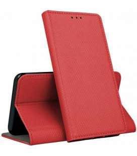 """Raudonas atverčiamas dėklas Samsung Galaxy A72 telefonui """"Smart Magnet"""""""