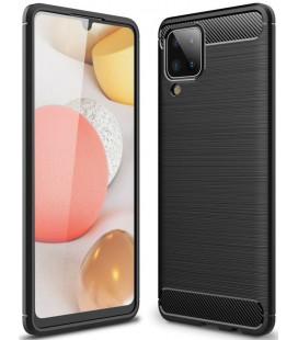 """Juodas dėklas Samsung Galaxy M12 telefonui """"Tech-Protect TPUCarbon"""""""