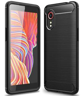"""Juodas dėklas Samsung Galaxy Xcover 5 telefonui """"Tech-Protect TPUCarbon"""""""