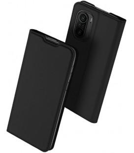 """Juodas atverčiamas dėklas Xiaomi Poco F3 telefonui """"Dux Ducis Skin Pro"""""""