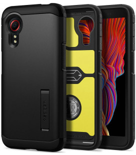 "Juodas dėklas Samsung Galaxy Xcover 5 telefonui ""Spigen Tough Armor"""