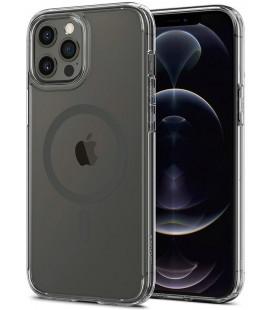 "Pilkas dėklas Apple iPhone 12 Pro Max telefonui ""Spigen Ultra Hybrid MAG Magsafe"""