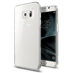 "Skaidrus dėklas Samsung Galaxy S7 Edge G935F telefonui ""Spigen Liquid Crystal"""