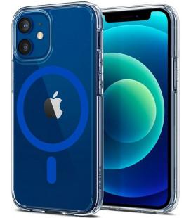 "Mėlynas dėklas Apple iPhone 12 Mini telefonui ""Spigen Ultra Hybrid MAG Magsafe"""