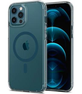 "Mėlynas dėklas Apple iPhone 12 Pro Max telefonui ""Spigen Ultra Hybrid MAG Magsafe"""