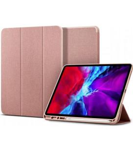 """Rausvai auksinės spalvos atverčiamas dėklas Apple iPad Pro 11 2020/2021 planšetei """"Spigen Urban Fit"""""""