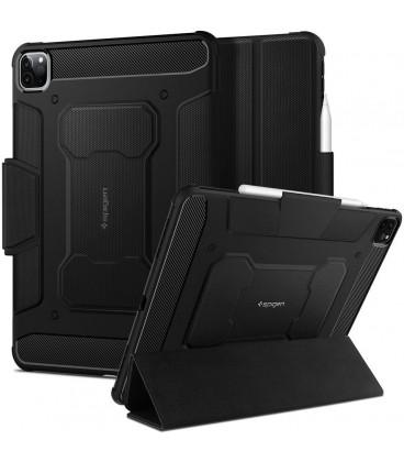 """Juodas atverčiamas dėklas Apple iPad Pro 11 2020/2021 planšetei """"Spigen Rugged Armor PRO"""""""