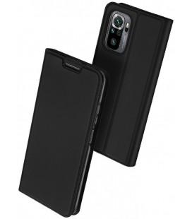 """Juodas atverčiamas dėklas Xiaomi Redmi Note 10/10S telefonui """"Dux Ducis Skin Pro"""""""