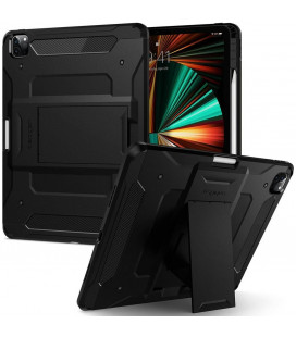 "Juodas dėklas Apple iPad Pro 12.9 2021 planšetei ""Spigen Tough Armor Pro"""