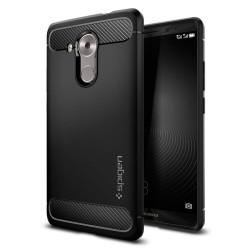"""Juodas dėklas Huawei Mate 8 telefonui """"Spigen Rugged Armor"""""""