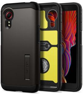 "Pilkas dėklas Samsung Galaxy Xcover 5 telefonui ""Spigen Tough Armor"""