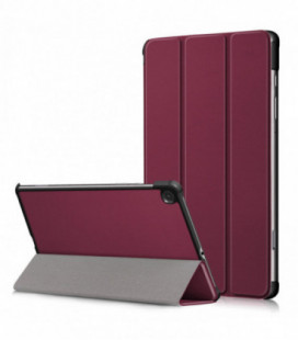 Dėklas Smart Leather Samsung T290/T295 Tab A 8.0 2019 bordo
