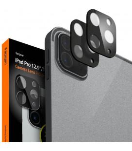"""Juodas apsauginis grūdintas stiklas Apple iPad Pro 11/12.9 2020/2021 planšetės kamerai apsaugoti """"Spigen Glass FC Lens 2-Pack"""""""