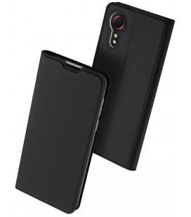 """Juodas atverčiamas dėklas Samsung Galaxy Xcover 5 telefonui """"Dux Ducis Skin Pro"""""""