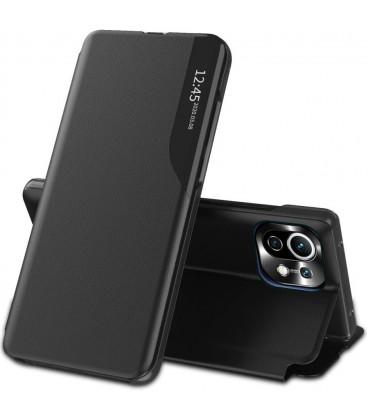 """Juodas atverčiamas dėklas Xiaomi Mi 11 Lite / Mi 11 Lite 5G telefonui """"Tech-protect Smart View"""""""