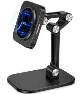 """Juodas laikiklis - stovas telefonams su belaidžio krovimo funkcija """"ESR Halolock Magnetic Magsafe"""""""