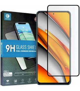 """Juodas apsauginis grūdintas stiklas Xiaomi Poco F3 / Mi 11i telefonui """"Mocolo TG Full Glue"""""""