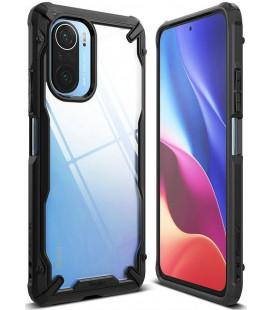 "Juodas dėklas Xiaomi Poco F3 / Mi 11i telefonui ""Ringke Fusion X"""