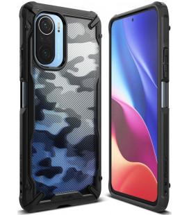 "Juodas (Camo) dėklas Xiaomi Poco F3 / Mi 11i telefonui ""Ringke Fusion X"""