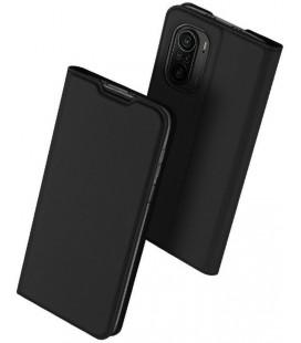"""Juodas atverčiamas dėklas Xiaomi Poco F3 / Mi 11i telefonui """"Dux Ducis Skin Pro"""""""