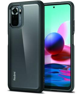 "Juodas dėklas Xiaomi Redmi Note 10/10S telefonui ""Spigen Ultra Hybrid"""