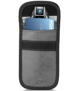 """Pilkas automobilio raktų dėklas - įmautė RFID signalo blokavimas """"Tech-Protect V1 Keyless Rfid Signal Blocker"""""""