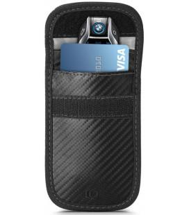 """Juodas (Carbon) automobilio raktų dėklas - įmautė RFID signalo blokavimas """"Tech-Protect V1 Keyless Rfid Signal Blocker"""""""