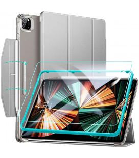 """Pilkas atverčiamas dėklas + Apsauginis grūdintas stiklas Apple iPad Pro 12.9 2021 planšetei """"ESR Ascend Trifold"""""""