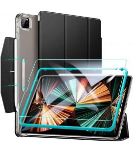"""Juodas atverčiamas dėklas + Apsauginis grūdintas stiklas Apple iPad Pro 12.9 2021 planšetei """"ESR Ascend Trifold"""""""