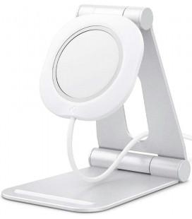 """Baltas stovas Apple Magsafe krovikliui """"Spigen Magfit S"""""""