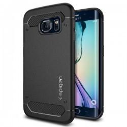"Juodas dėklas Samsung Galaxy S6 Edge G925F telefonui ""Spigen Capsule Ultra Rugged"""