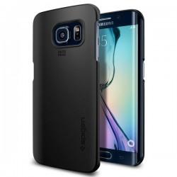 "Juodas dėklas Samsung Galaxy S6 Edge telefonui ""Spigen Thin Fit"""