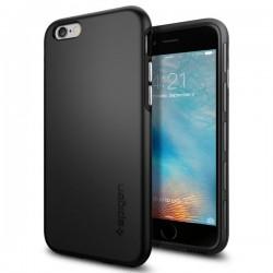 "Juodas dėklas Apple iPhone 6/6s telefonui ""Spigen Thin Fit Hybrid"""