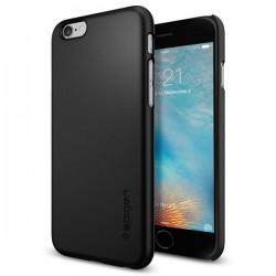 "Juodas dėklas Apple iPhone 6/6s telefonui ""Spigen Thin Fit"""