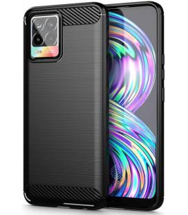 """Juodas dėklas Realme 8 5G telefonui """"Tech-Protect TPUCarbon"""""""